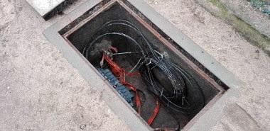 Podziemna instalacja światłowodowa